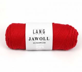 Strickgarn - LANGYARNS JAWOLL - 210m - 75% Schurwolle - Inkl. 5g Spule Beilaufgarn - Rot (83.0060)