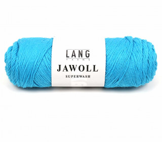 Strickgarn - LANGYARNS JAWOLL - 210m - 75% Schurwolle - Inkl. 5g Spule Beilaufgarn - Cyanblau (83.0279)