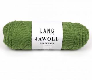 Strickgarn - LANGYARNS JAWOLL - 210m - 75% Schurwolle - Inkl. 5g Spule Beilaufgarn - Olivgrün (83.0198)