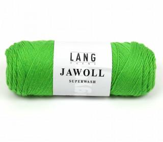 Strickgarn - LANGYARNS JAWOLL - 210m - 75% Schurwolle - Inkl. 5g Spule Beilaufgarn - Gelbgrün (83.0216)