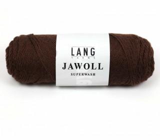 Strickgarn - LANGYARNS JAWOLL - 210m - 75% Schurwolle - Inkl. 5g Spule Beilaufgarn - Dunkelbraun (83.0168)