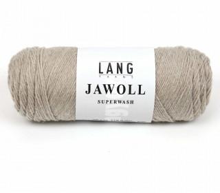 Strickgarn - LANGYARNS JAWOLL - 210m - 75% Schurwolle - Inkl. 5g Spule Beilaufgarn - Sand (83.0022)