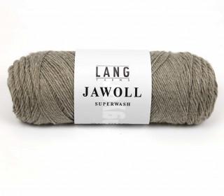 Strickgarn - LANGYARNS JAWOLL - 210m - 75% Schurwolle - Inkl. 5g Spule Beilaufgarn - Graubeige (83.0045)