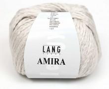 Strickgarn - LANGYARNS AMIRA - 100m - 93% Baumwolle - Ganzjahresgarn - Hellgrau (933.0096)