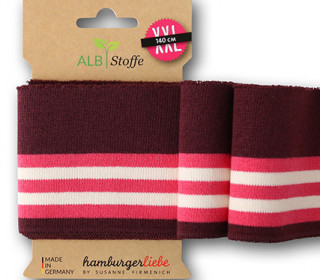 Bio-Bündchen - College - 5 Stripes - Weekender - Multi - Cuff Me - Hamburger Liebe - Aubergine