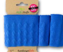 Bio-Bündchen - 3D - Jacquard - Weekender - Uni - Cuff Me - Hamburger Liebe - Blau