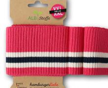 Bio-Bündchen - Ripped - 3 Stripes - Weekender - Multi - Cuff Me - Hamburger Liebe - Magenta