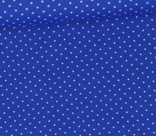 Leichter Baumwollstoff - Pünktchen - Daisy - Blau/Weiß