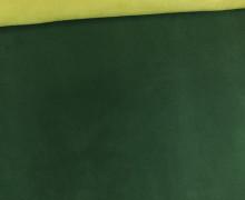 Kunstleder - Alaska - Double Face - Velours - Tannengrün/Gelbgrün
