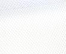 Fester Netzstoff - Uni - Durchsichtig - Weiß