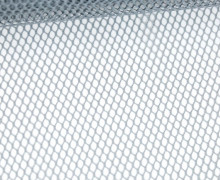 Netzstoff - Uni - Durchsichtig - Grau