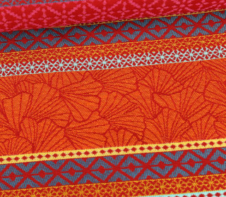 Jacquard - Extra Breit - Bali - Muster - Rot