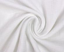 Musselin Bambino - Muslin - Uni - Schnuffeltuch - Windeltuch - Weiß