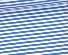 Jersey - Streifen - Hellblau/Weiß