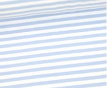 Jersey - Streifen - Pastellblau/Weiß