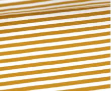 Jersey - Streifen - Ockergelb/Weiß