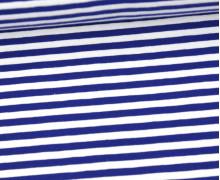 Jersey - Streifen - Blau/Weiß
