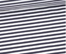 Jersey - Streifen - Dunkelgrau/Weiß