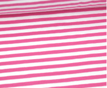 Jersey - Streifen - Rosa/Weiß