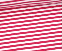 Jersey - Streifen - Pink/Weiß