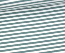 Jersey - Streifen -Lichtgrün/Weiß