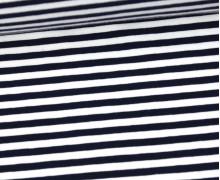 Jersey - Streifen -Blauschwarz/Weiß