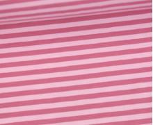 Jersey - Streifen - Rosa/Dunkelrosa