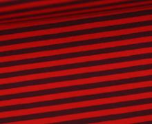 Jersey - Streifen - Rot/Weinrot