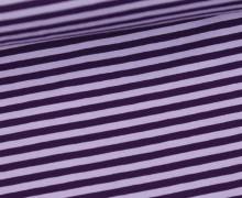 Jersey - Streifen - Flieder/Dunkellila