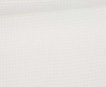 Waffel Piqué - Baumwolle - Weiß