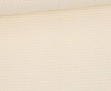 Waffel Piqué - Baumwolle - Warmweiß