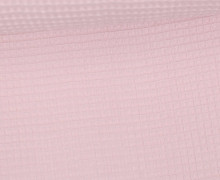Waffel Piqué - Baumwolle - Pastellrosa