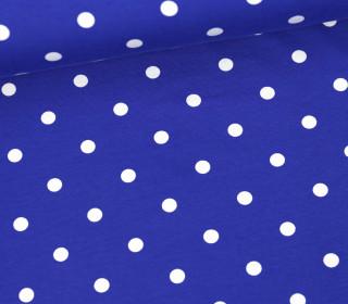 Jersey - Punkte - Groß - Blau/Weiß