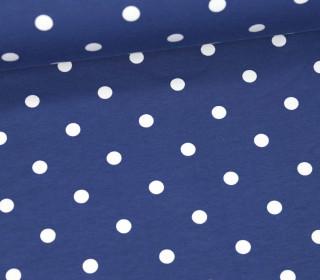 Jersey - Punkte - Groß - Taubenblau/Weiß