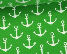 Sommersweat - Kleine Anker - Grasgrün