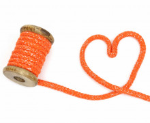 1m Kordel - Rope Bowl - Lurexfäden - Glitzer - 10mm - Orange