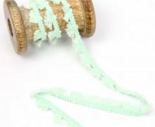 1m Tasselborte - Quasten - Uni - Pastellgrün
