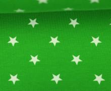 Jersey - Sterne - Groß - Grasgrün/Weiß