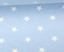 Jersey - Sterne - Groß - Pastellblau/Weiß