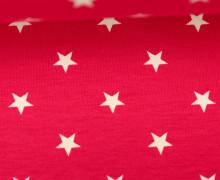 Jersey - Sterne - Groß - Pink/Weiß