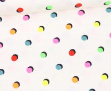 Jersey - Neon - Punkte - Weiß