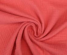 Musselin - Muslin - Uni - Double Gauze - 130gr - Schnuffeltuch - Windeltuch - Lachsrosa