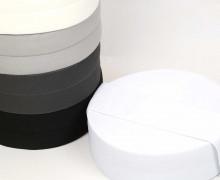 1m Faltgummi - elastisch - Faltband - Einfassband - uni - 60mm - Weiß