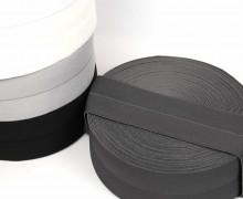 1m Faltgummi - elastisch - Faltband - Einfassband - uni - 60mm - Dunkelgrau