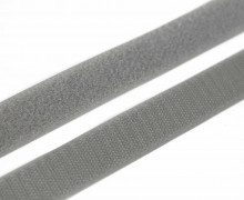 1 Meter Klettband - Klettverschluss - Zum Nähen - Hook & Loop - 25mm - Grau