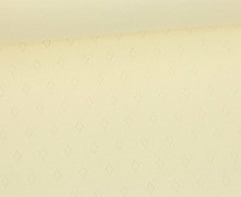 Baumwoll-Lochstrick - Raute - Warmweiß