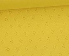 Baumwoll-Lochstrick - Raute - Gelb