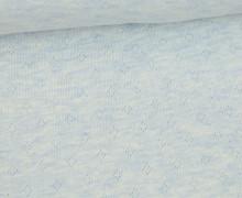 Baumwoll-Lochstrick - Raute - Pastellblau Meliert