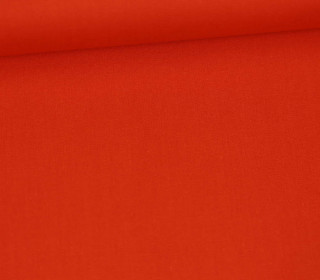 Baumwollstoff - Uni - 150cm - Orangerot