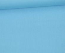 Baumwolle - Webware - Uni - 150cm - Babyblau